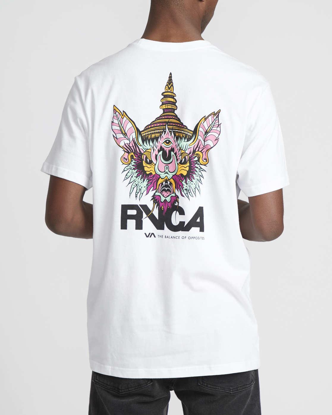 0 Roberto Rodriguez Redondo Screaming Bat  - Maglietta a maniche corte da Uomo White Q1SSRGRVF9 RVCA