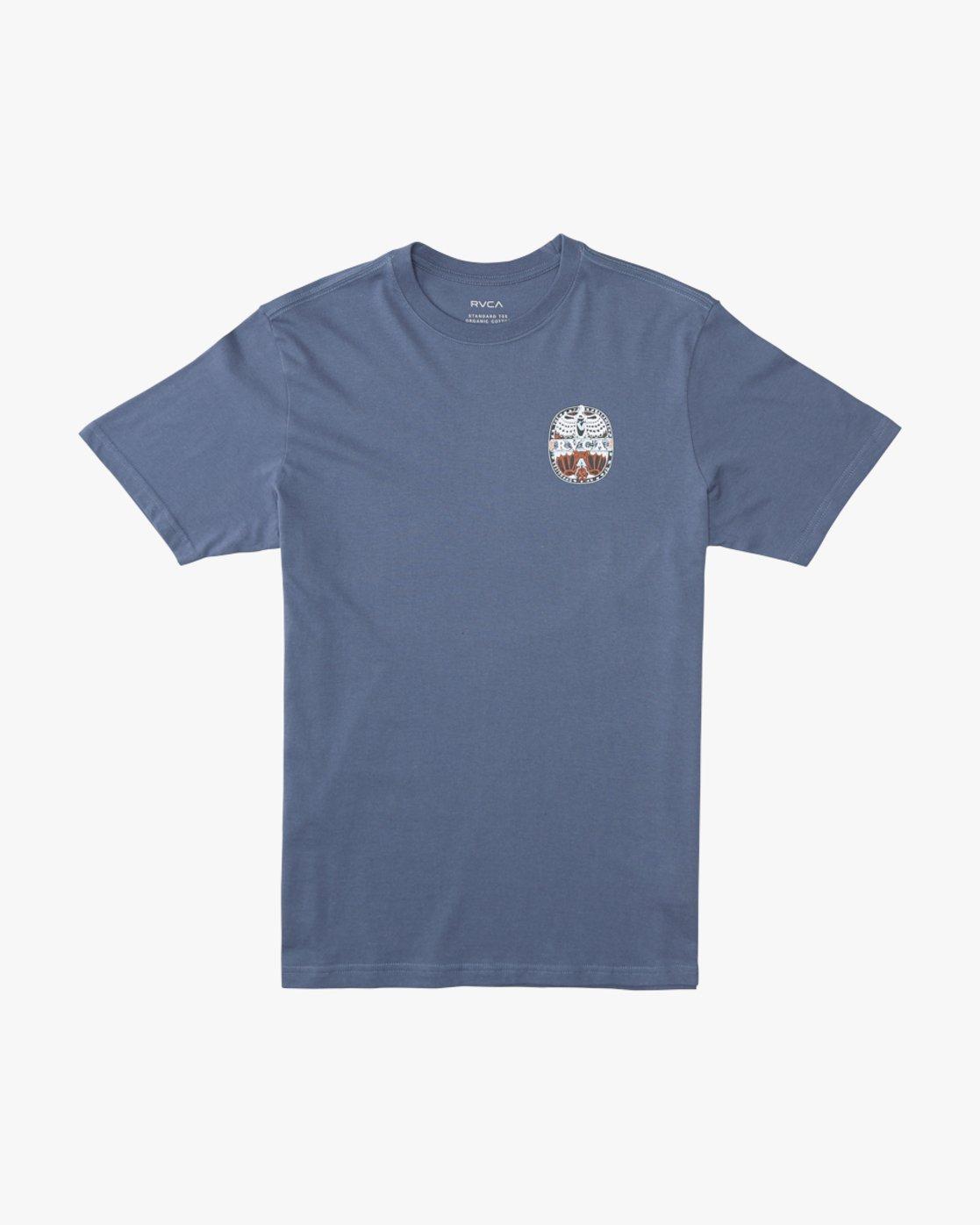 1 Martin Ander Opposites  - Short Sleeve T-Shirt for Men Blue Q1SSRHRVF9 RVCA