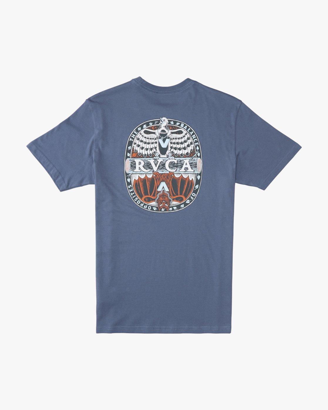 0 Martin Ander Opposites  - Short Sleeve T-Shirt for Men Blue Q1SSRHRVF9 RVCA