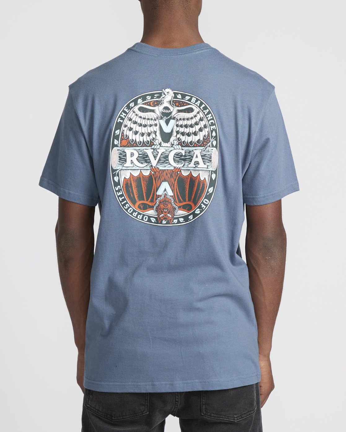 2 Martin Ander Opposites  - Short Sleeve T-Shirt for Men Blue Q1SSRHRVF9 RVCA