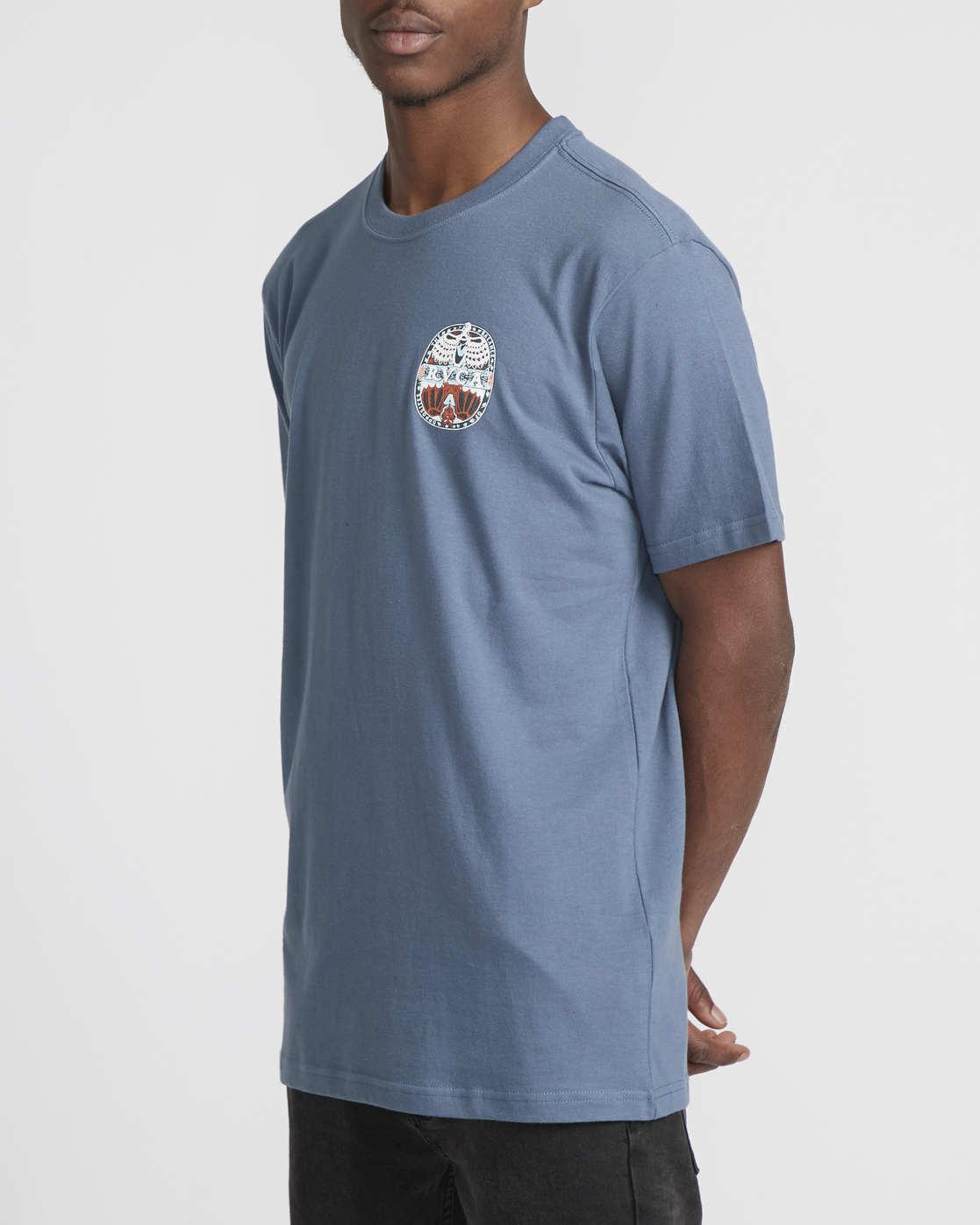 3 Martin Ander Opposites  - Short Sleeve T-Shirt for Men Blue Q1SSRHRVF9 RVCA