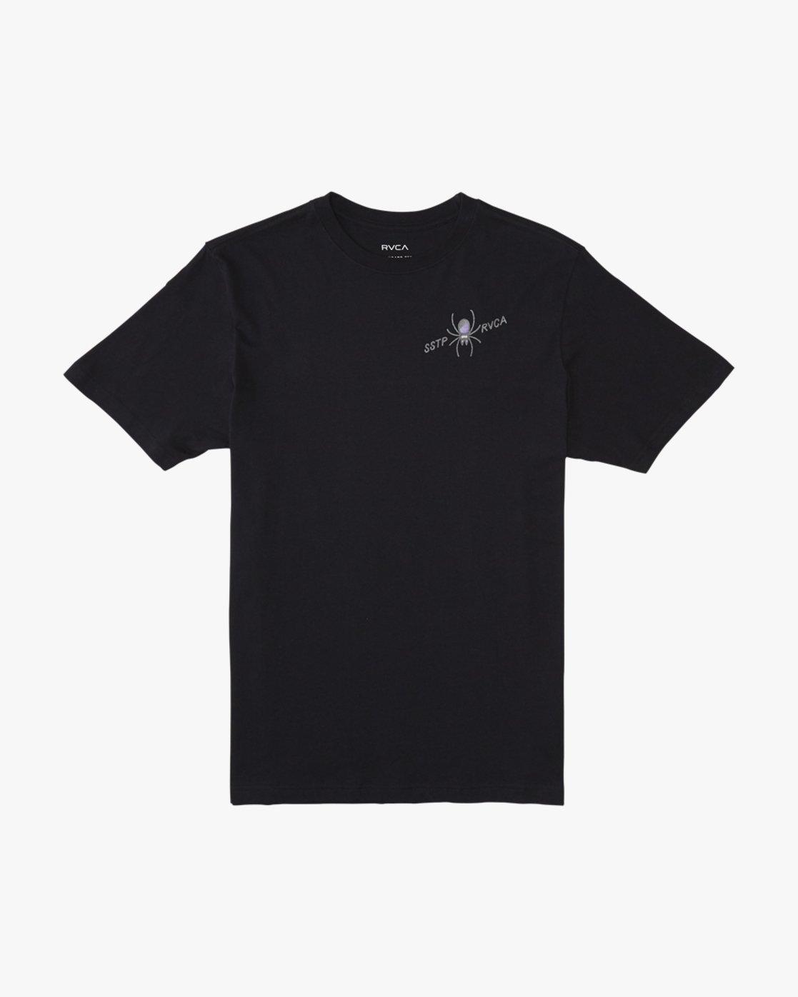 1 Smith Street  - Short Sleeve T-Shirt Black Q1SSRKRVF9 RVCA