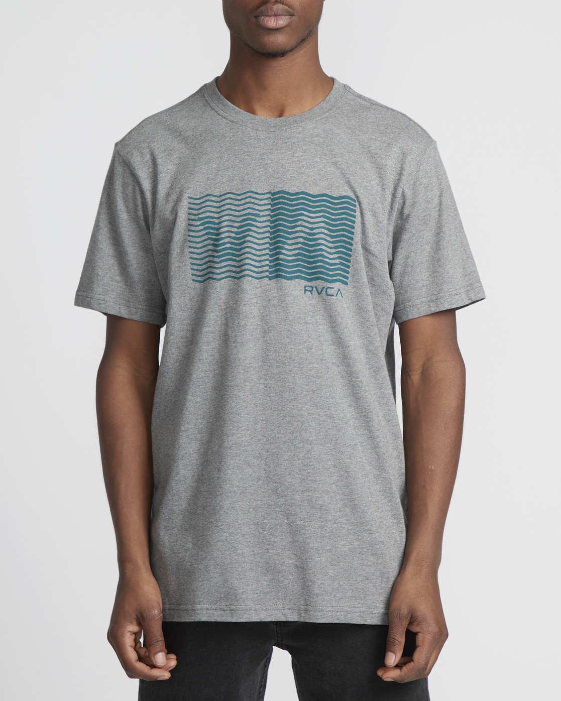 0 Logo Pack  - Short Sleeve T-Shirt Grey Q1SSRLRVF9 RVCA