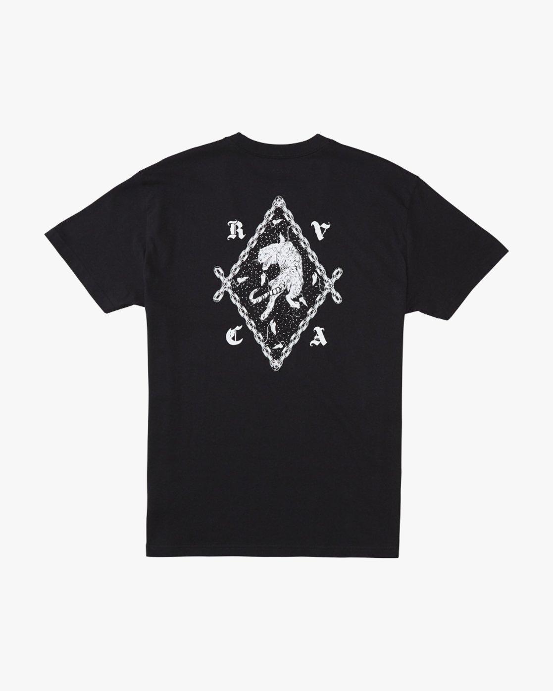 0 Benjamin Jeanjean RVCA Tiger  - Short Sleeve T-Shirt Black Q1SSRORVF9 RVCA