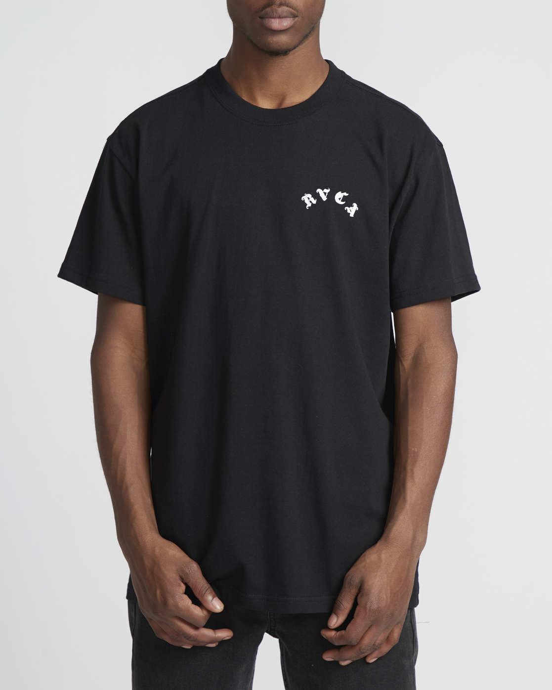 4 Benjamin Jeanjean RVCA Tiger  - Short Sleeve T-Shirt Black Q1SSRORVF9 RVCA