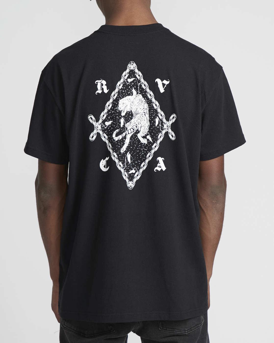 2 Benjamin Jeanjean RVCA Tiger  - Short Sleeve T-Shirt Black Q1SSRORVF9 RVCA