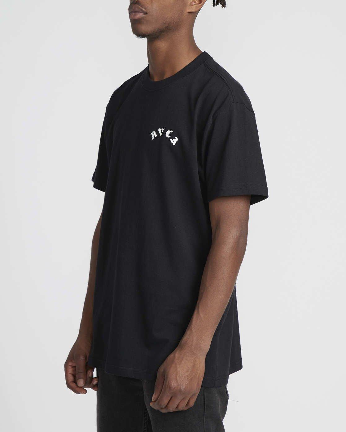 3 Benjamin Jeanjean RVCA Tiger  - Short Sleeve T-Shirt Black Q1SSRORVF9 RVCA