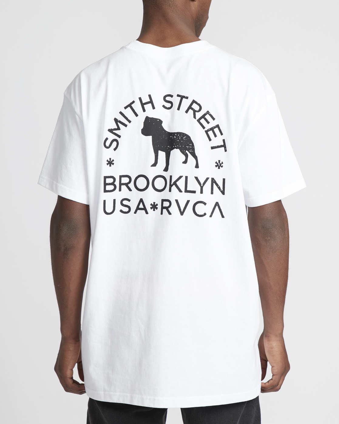 2 Smith Street Wicks  - Short Sleeve T-Shirt for Men White Q1SSRSRVF9 RVCA
