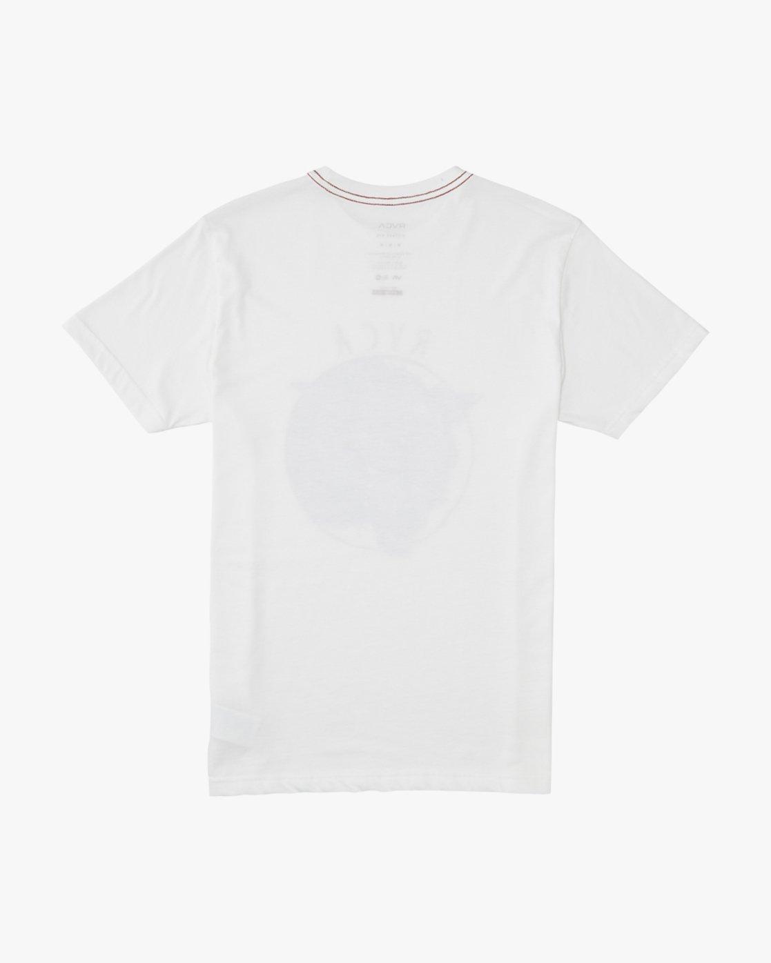1 Snarl  - Short Sleeve T-Shirt for Men White Q1SSRURVF9 RVCA