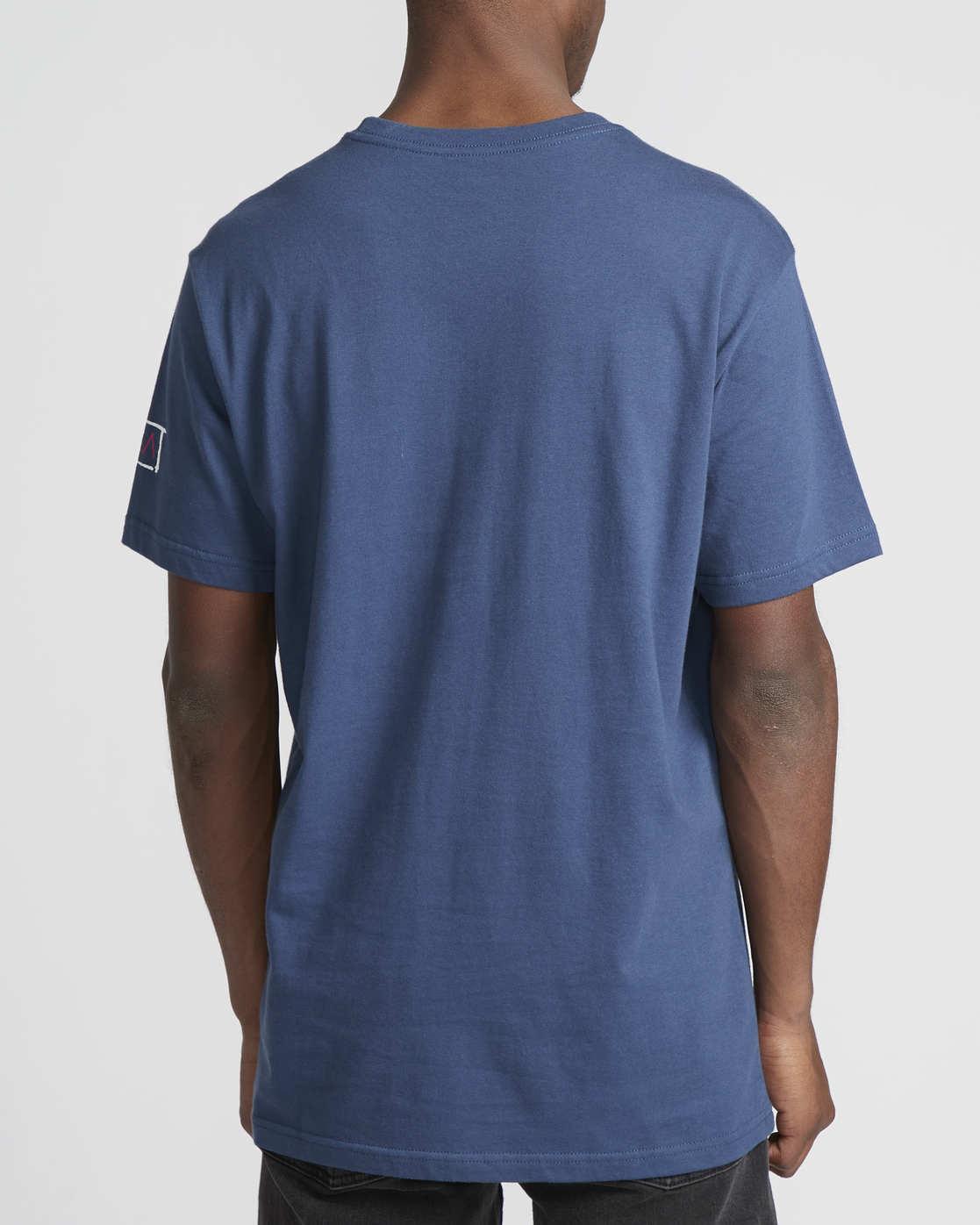 4 RVCA Blocker  - Short Sleeve T-Shirt Blue Q1SSSARVF9 RVCA