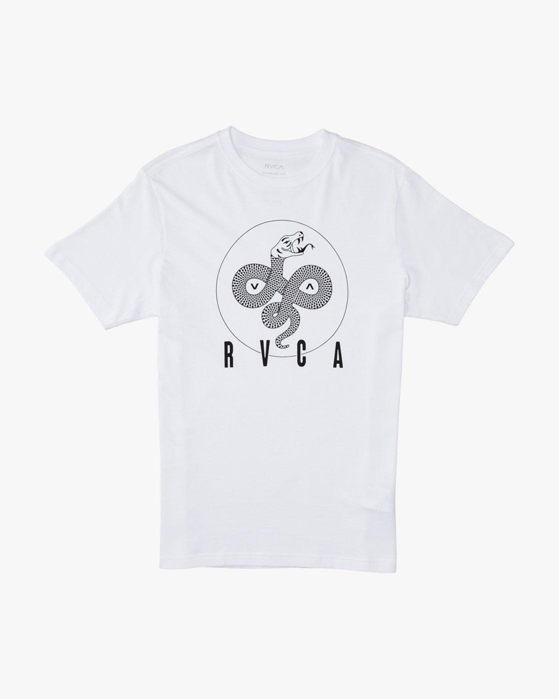 0 Serpent Curved  - Short Sleeve T-Shirt White Q1SSSBRVF9 RVCA