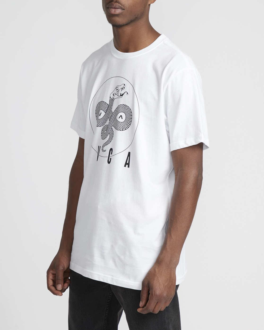 3 Serpent Curved  - Short Sleeve T-Shirt White Q1SSSBRVF9 RVCA