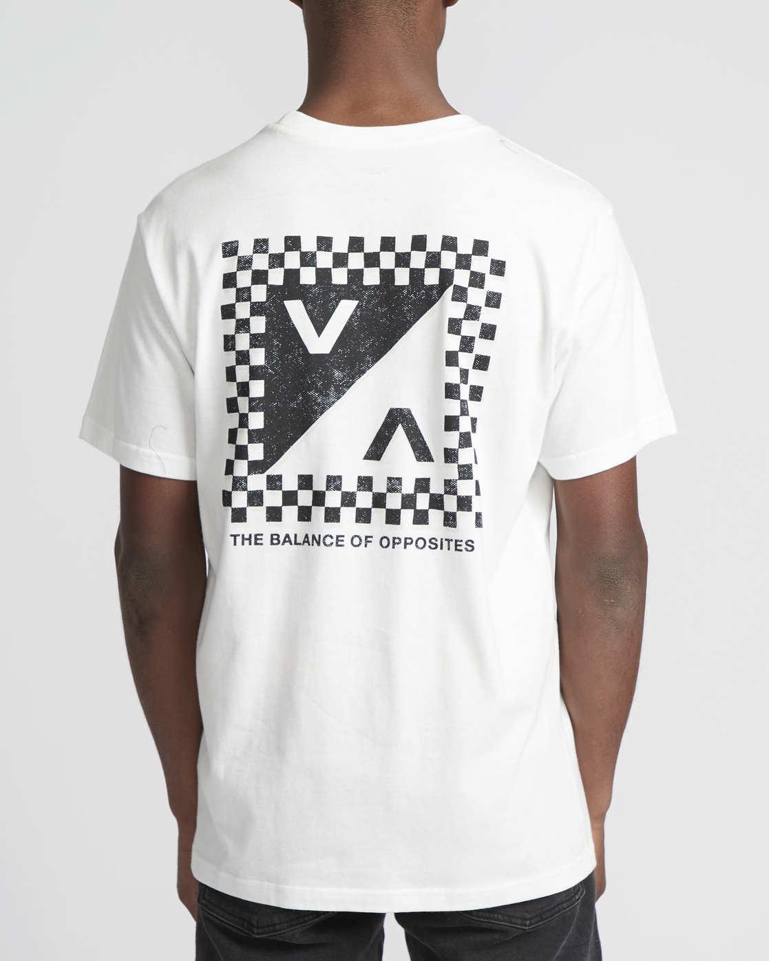 0 Check Mate  - Short Sleeve T-Shirt White Q1SSSDRVF9 RVCA