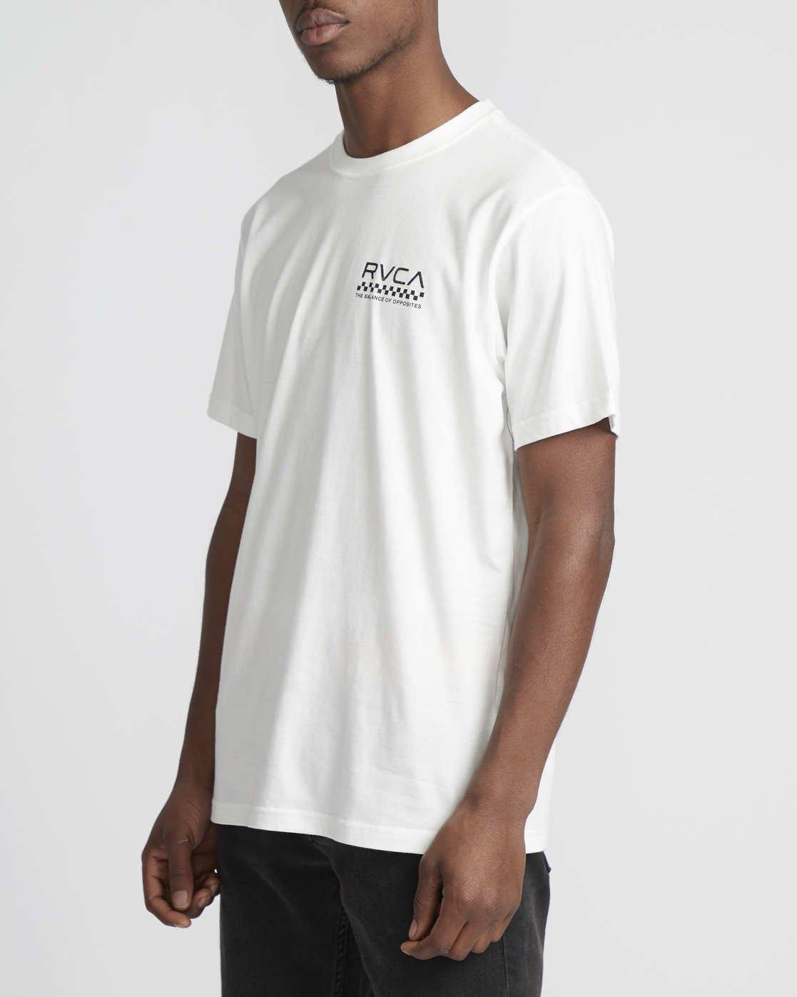 1 Check Mate  - Short Sleeve T-Shirt White Q1SSSDRVF9 RVCA