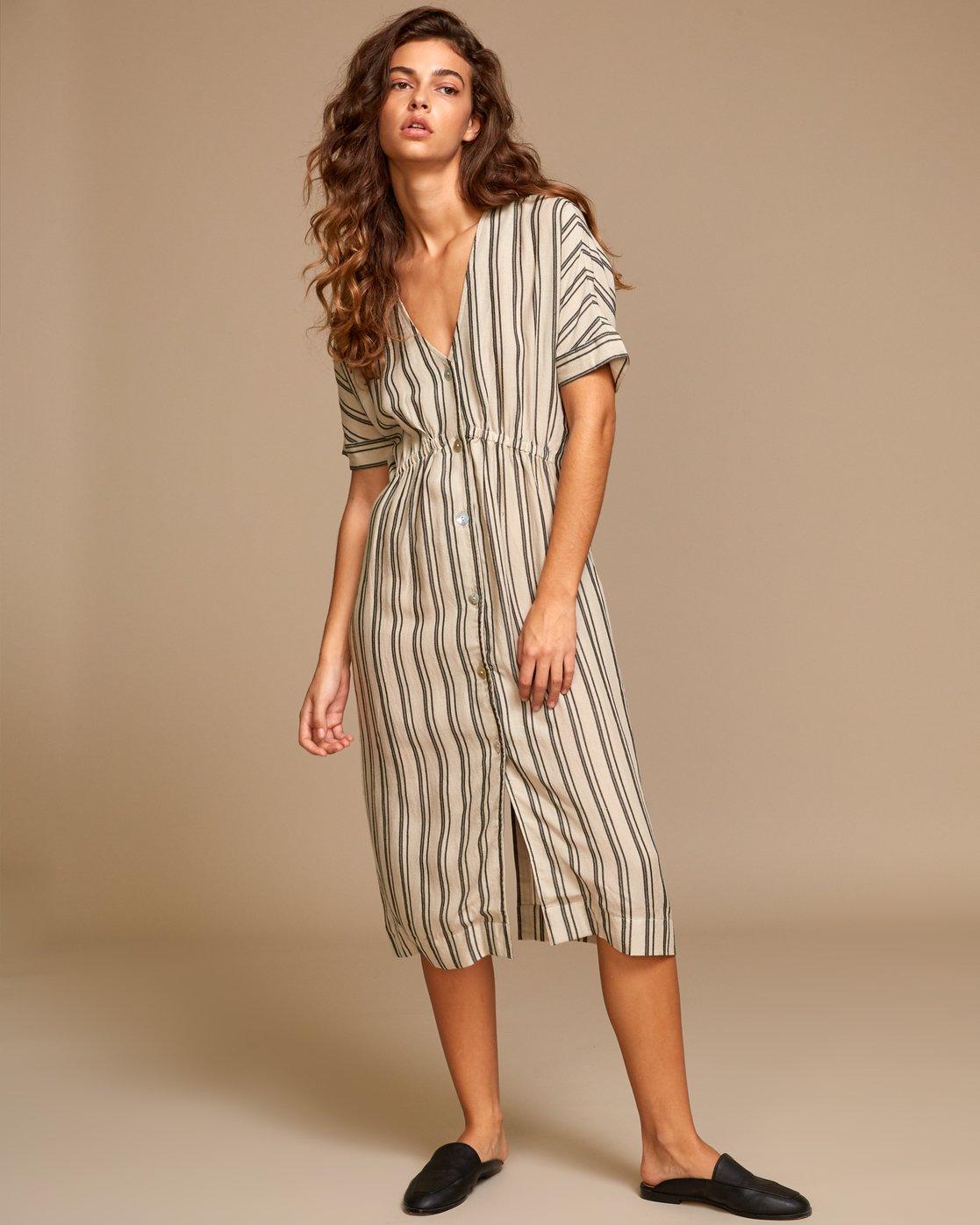 4 Smith  - Robe mi-longue pour Femme Beige Q3DRRIRVF9 RVCA