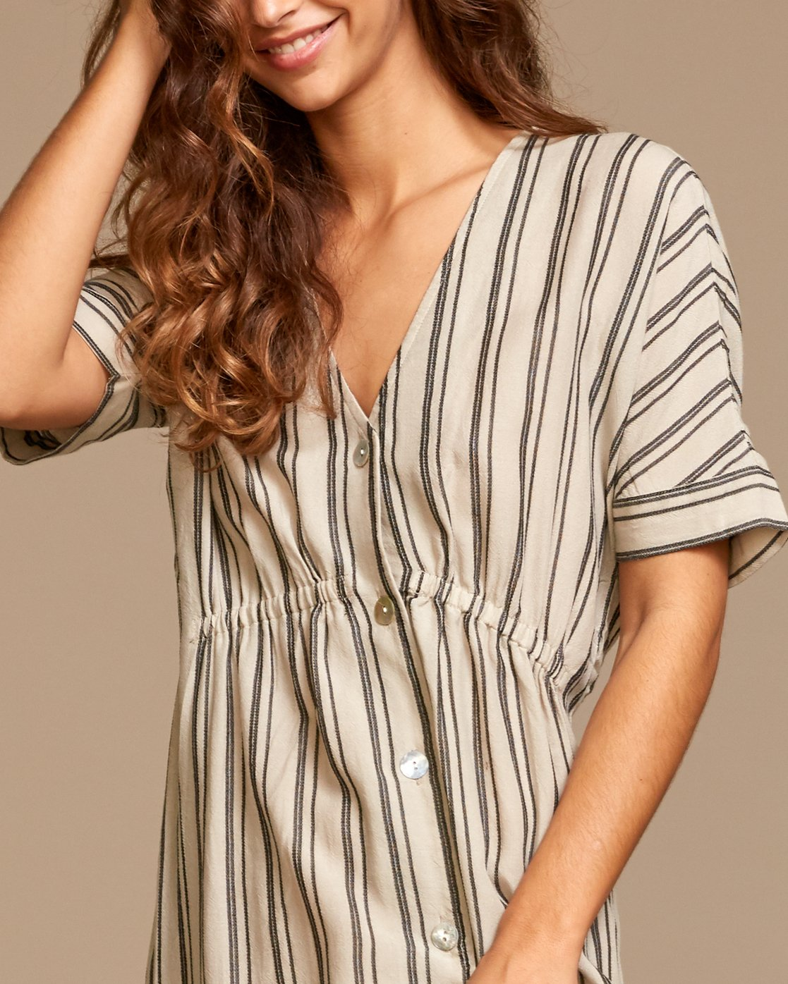 3 Smith  - Robe mi-longue pour Femme Beige Q3DRRIRVF9 RVCA