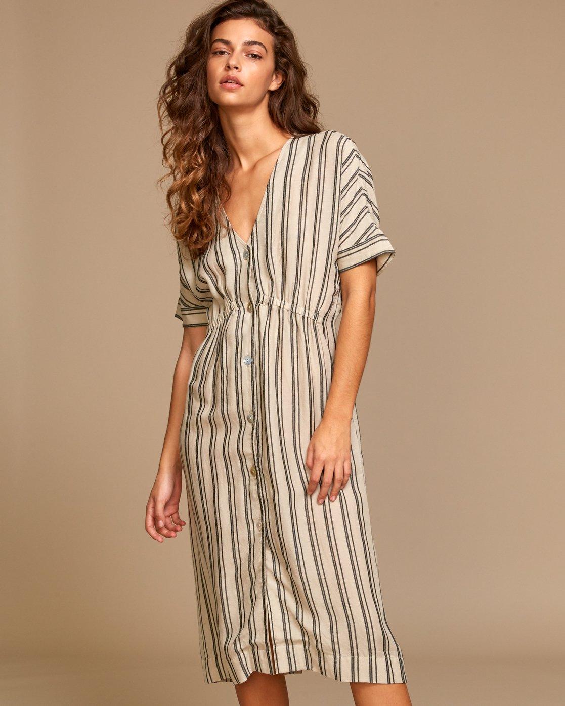 0 Smith  - Robe mi-longue pour Femme Beige Q3DRRIRVF9 RVCA