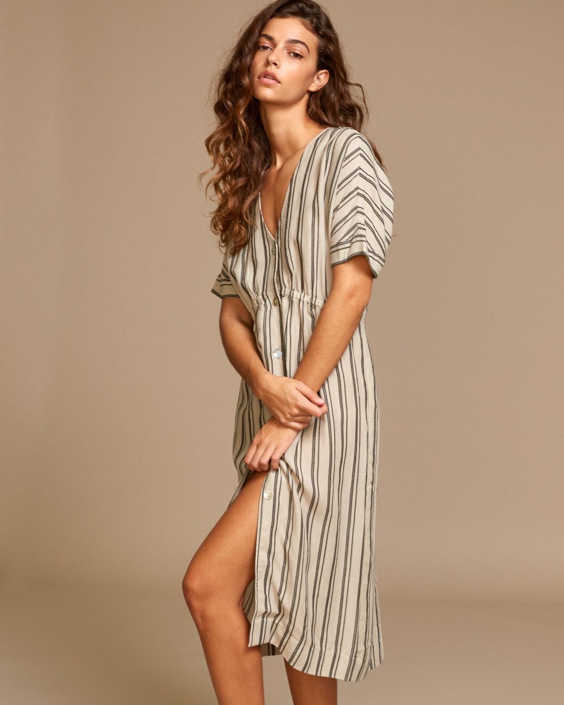 1 Smith  - Robe mi-longue pour Femme Beige Q3DRRIRVF9 RVCA