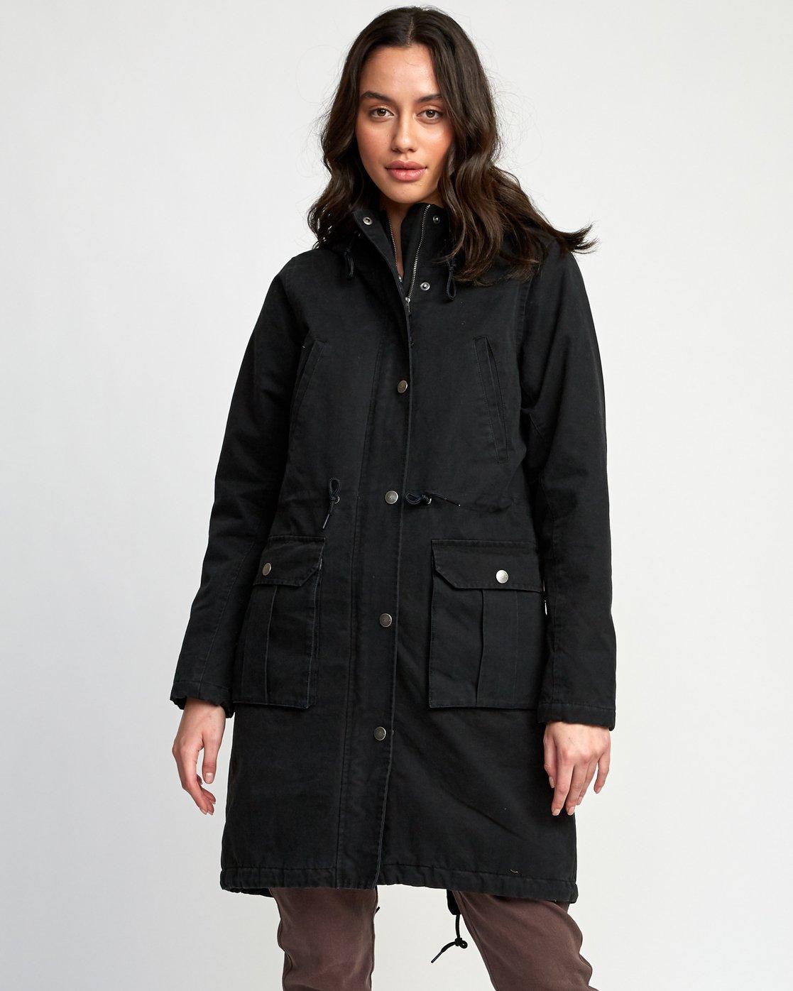 0 Managed  - Parka Coat Black Q3JKRCRVF9 RVCA