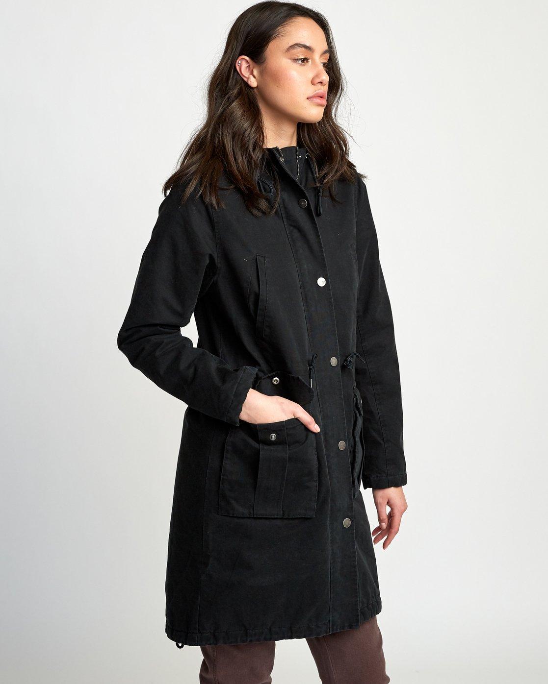 1 Managed  - Parka Coat Black Q3JKRCRVF9 RVCA