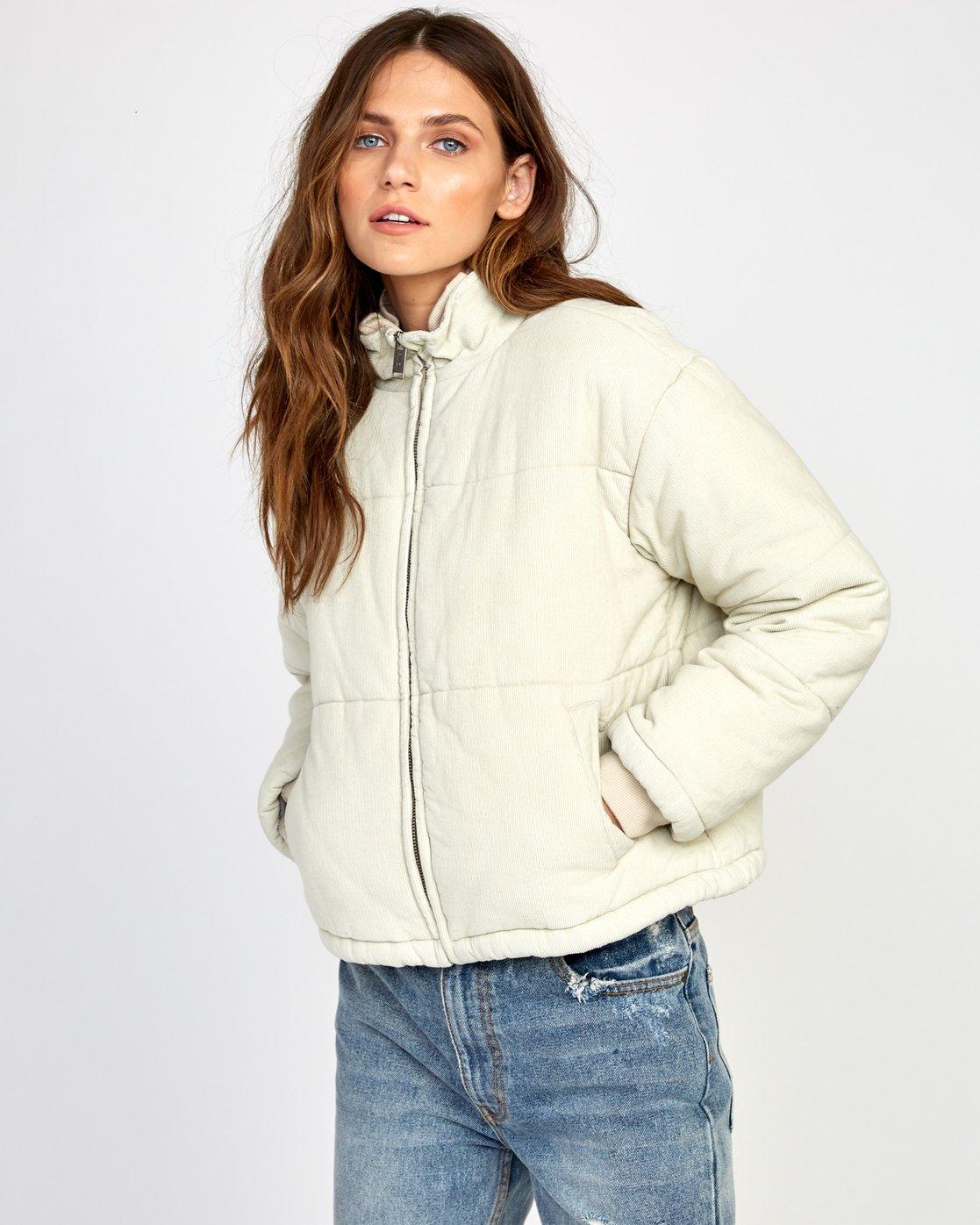 1 Eezeh Puffer  - Cropped Jacket Beige Q3JKRGRVF9 RVCA