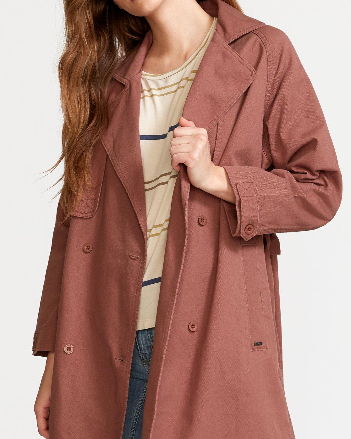 4 Larson  - Manteau Trench Coat pour Femme  Q3JKRHRVF9 RVCA