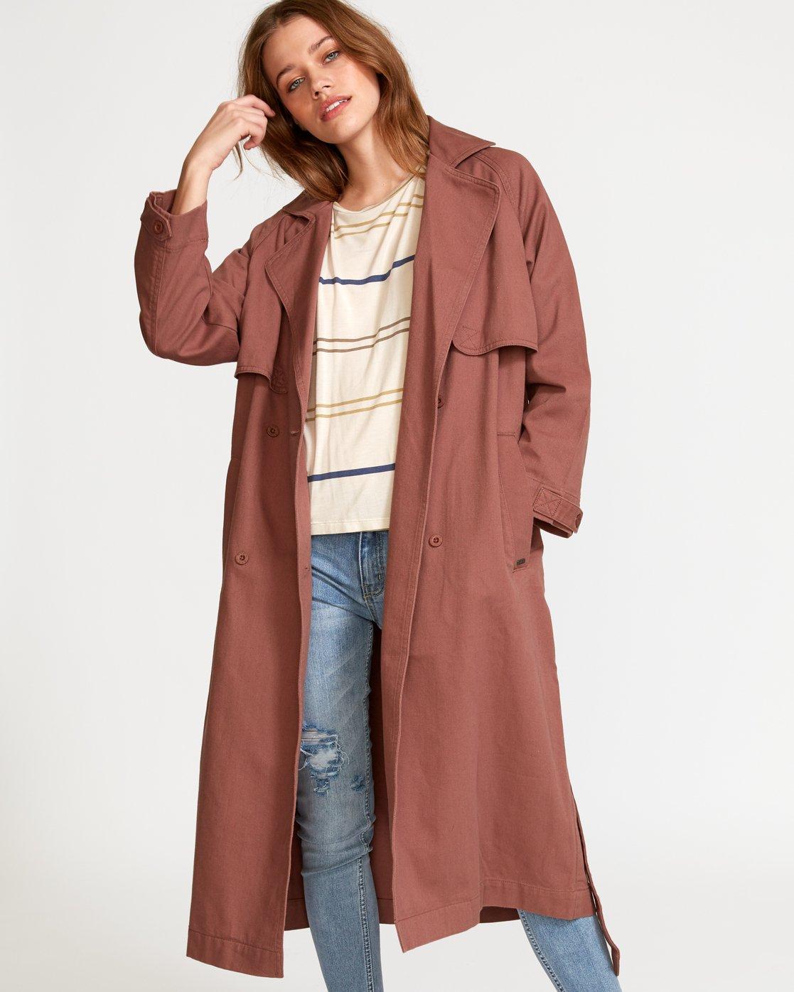 0 Larson  - Manteau Trench Coat pour Femme  Q3JKRHRVF9 RVCA