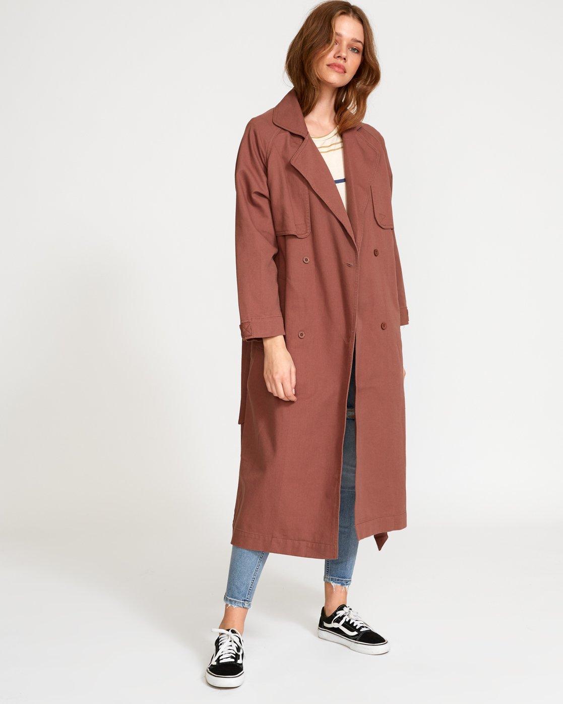 2 Larson  - Manteau Trench Coat pour Femme  Q3JKRHRVF9 RVCA