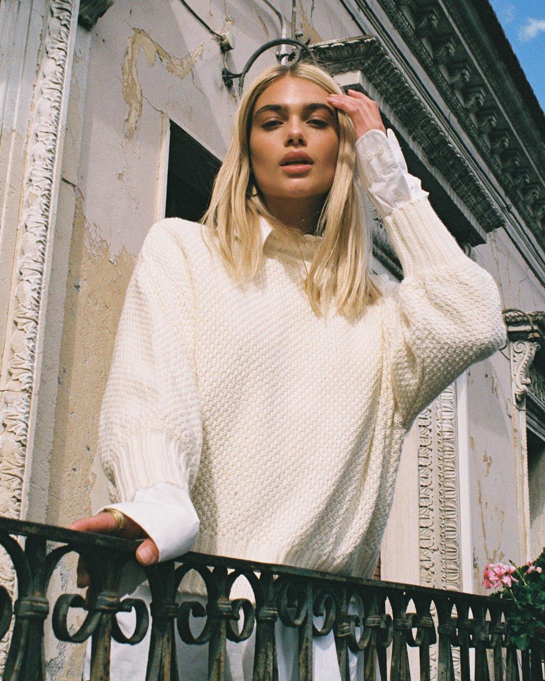 0 Volt  - Knit Mock Neck Sweater  Q3JPRHRVF9 RVCA