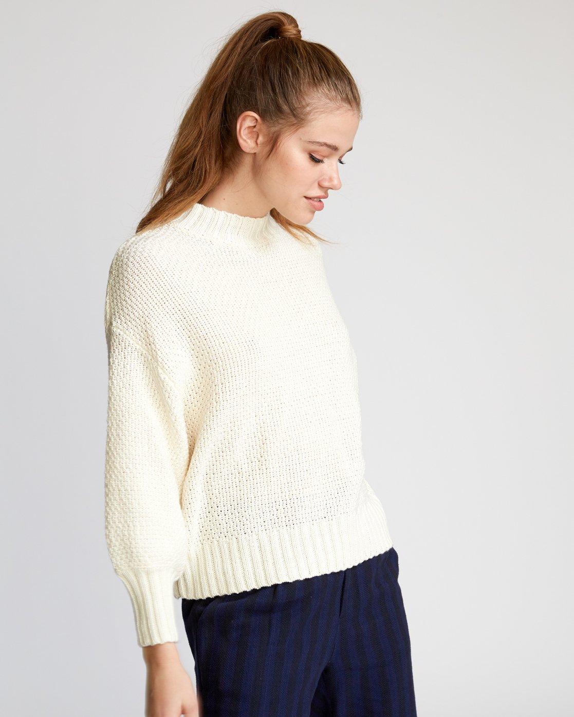 2 Volt  - Knit Mock Neck Sweater  Q3JPRHRVF9 RVCA