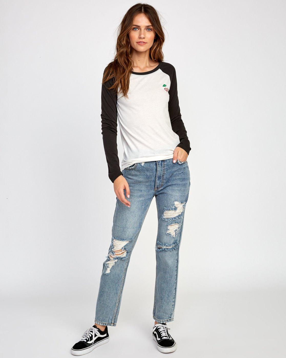 5 Cherries  - T-Shirt pour Femme Blanc Q3LSRARVF9 RVCA