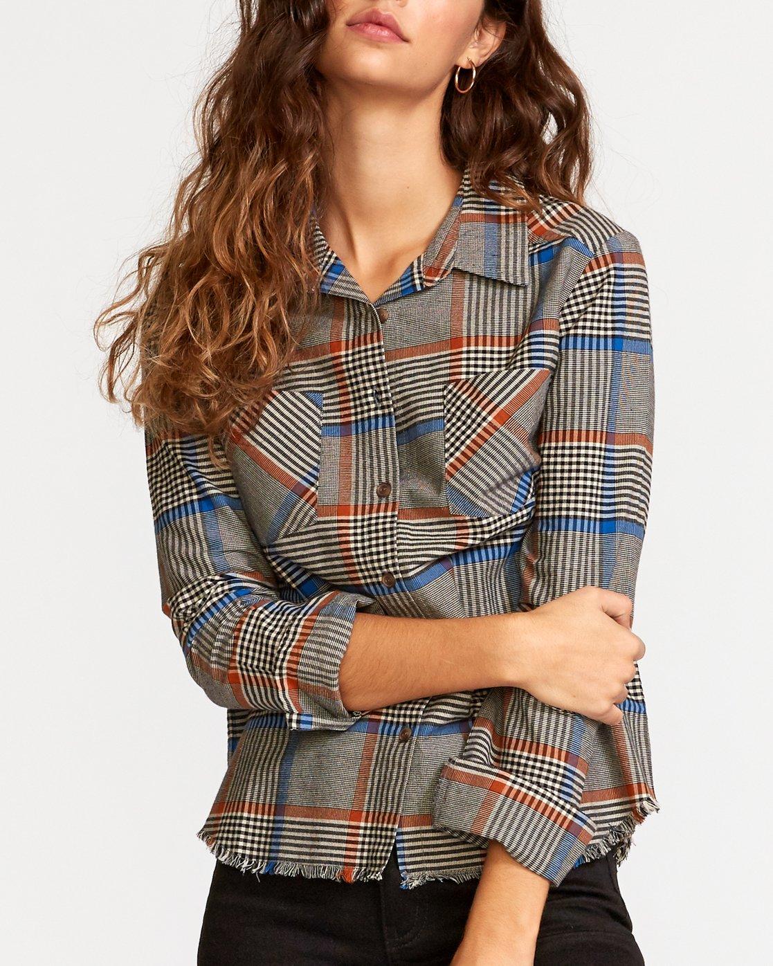 3 Jordan  - Kariertes Hemd mit Knopfleiste für Frauen  Q3SHRCRVF9 RVCA