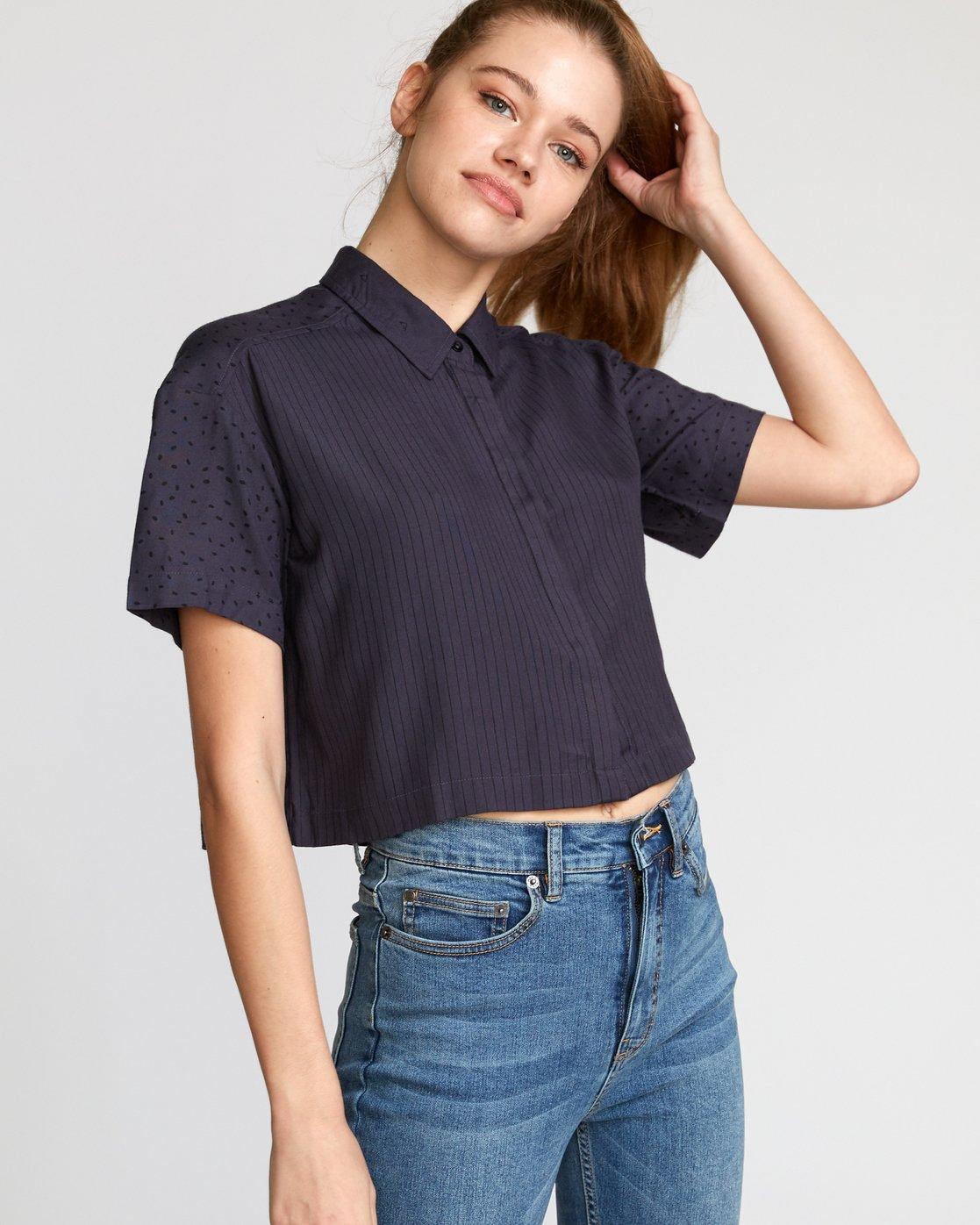 0 Fara  - Woven Shirt Black Q3SHRERVF9 RVCA