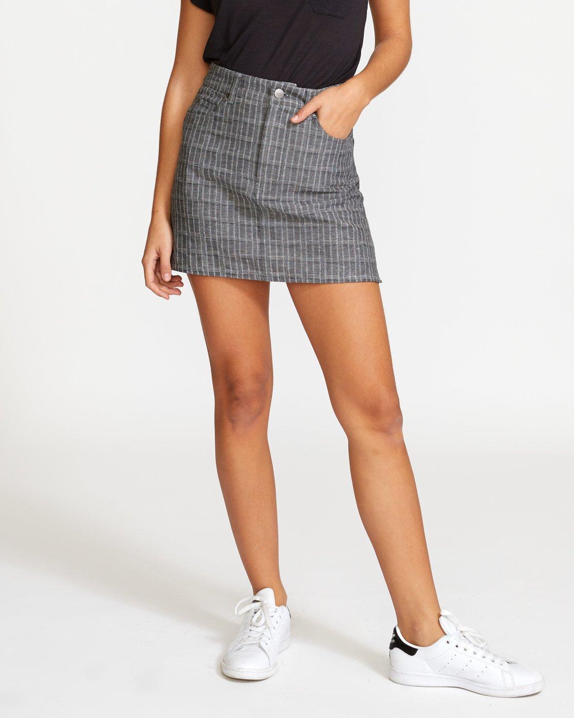 0 Rowdy Plaid  - Jeans-Minirock für Frauen  Q3SKRDRVF9 RVCA