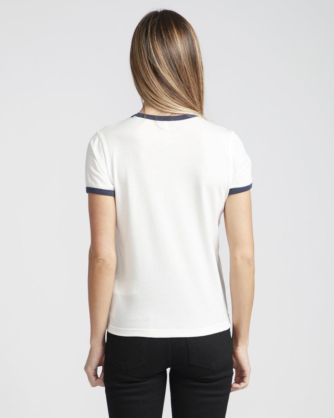 1 Cherry Ringer  - Maglietta a maniche corte da Donna White Q3SSRHRVF9 RVCA