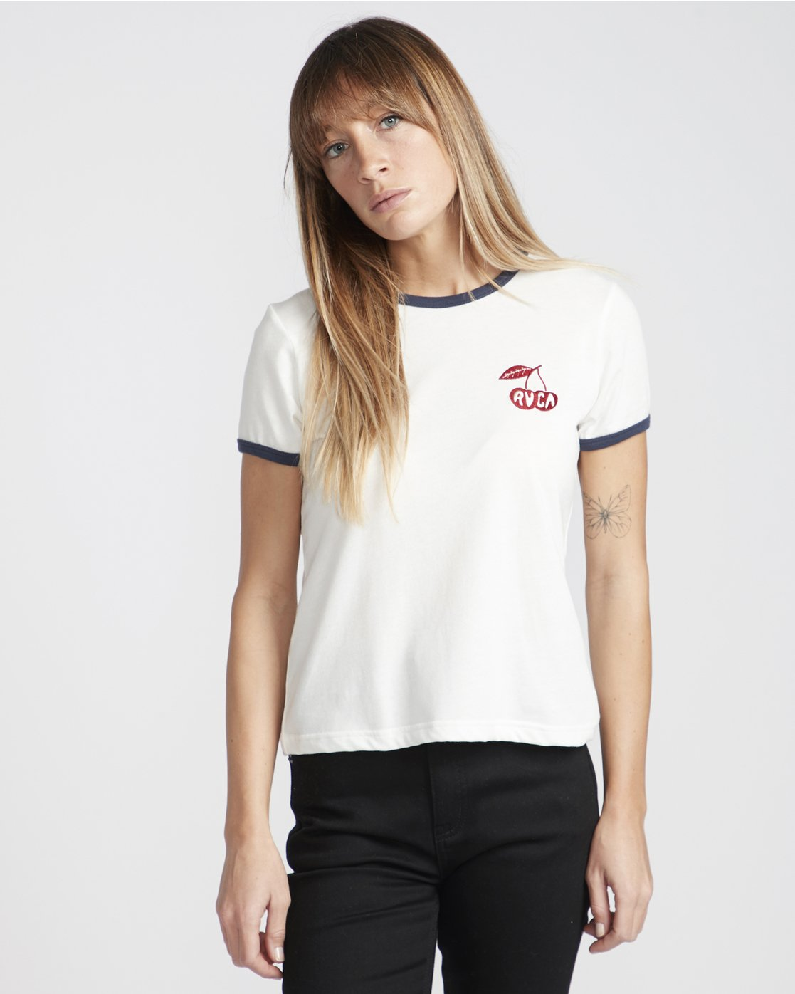 0 Cherry Ringer  - Maglietta a maniche corte da Donna White Q3SSRHRVF9 RVCA