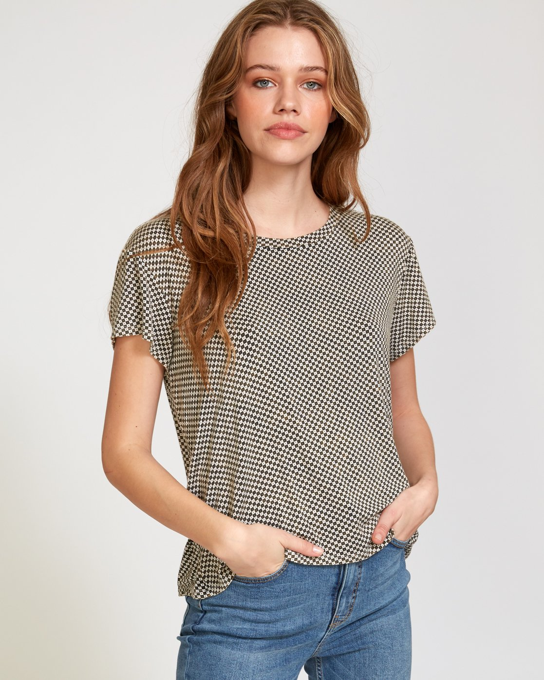 0 Suspension 3  - Knit T-Shirt Beige Q3TPRDRVF9 RVCA
