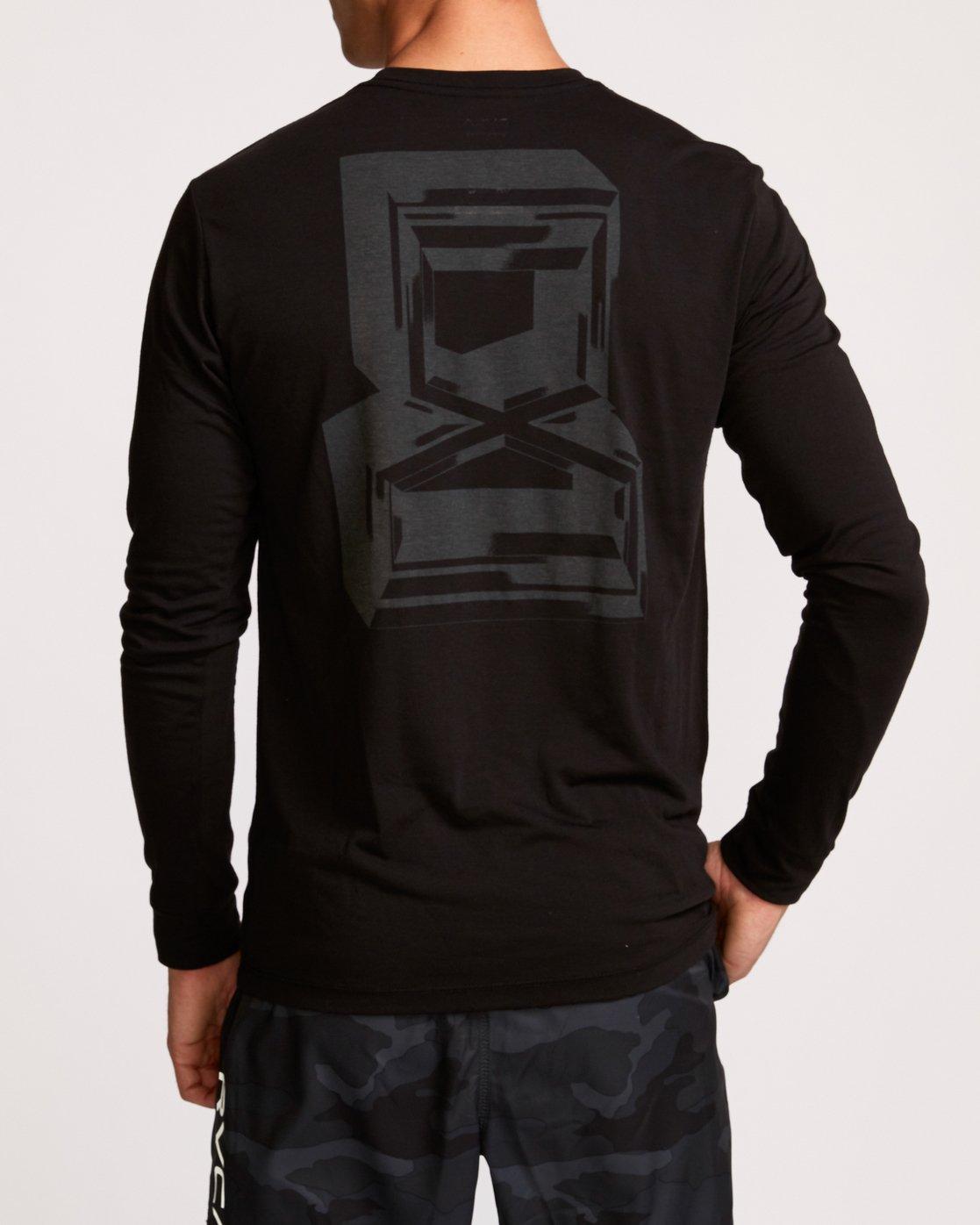 3 Francesco Infinity  - T-Shirt de Sport à manches longues pour Homme Noir Q4LSMARVF9 RVCA