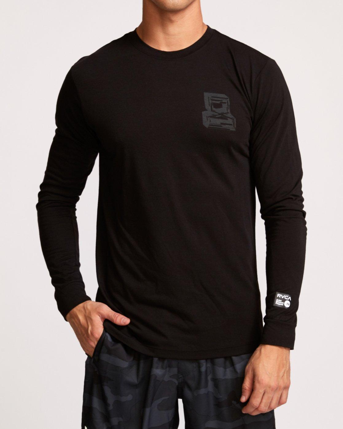 0 Francesco Infinity  - T-Shirt de Sport à manches longues pour Homme Noir Q4LSMARVF9 RVCA