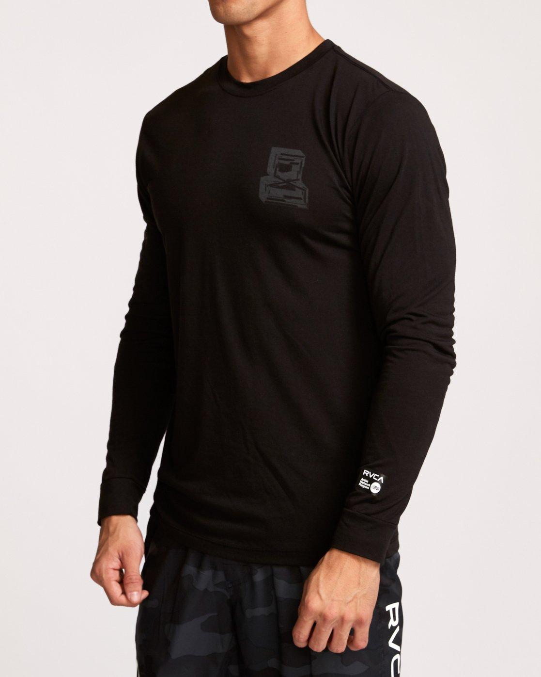 2 Francesco Infinity  - T-Shirt de Sport à manches longues pour Homme Noir Q4LSMARVF9 RVCA