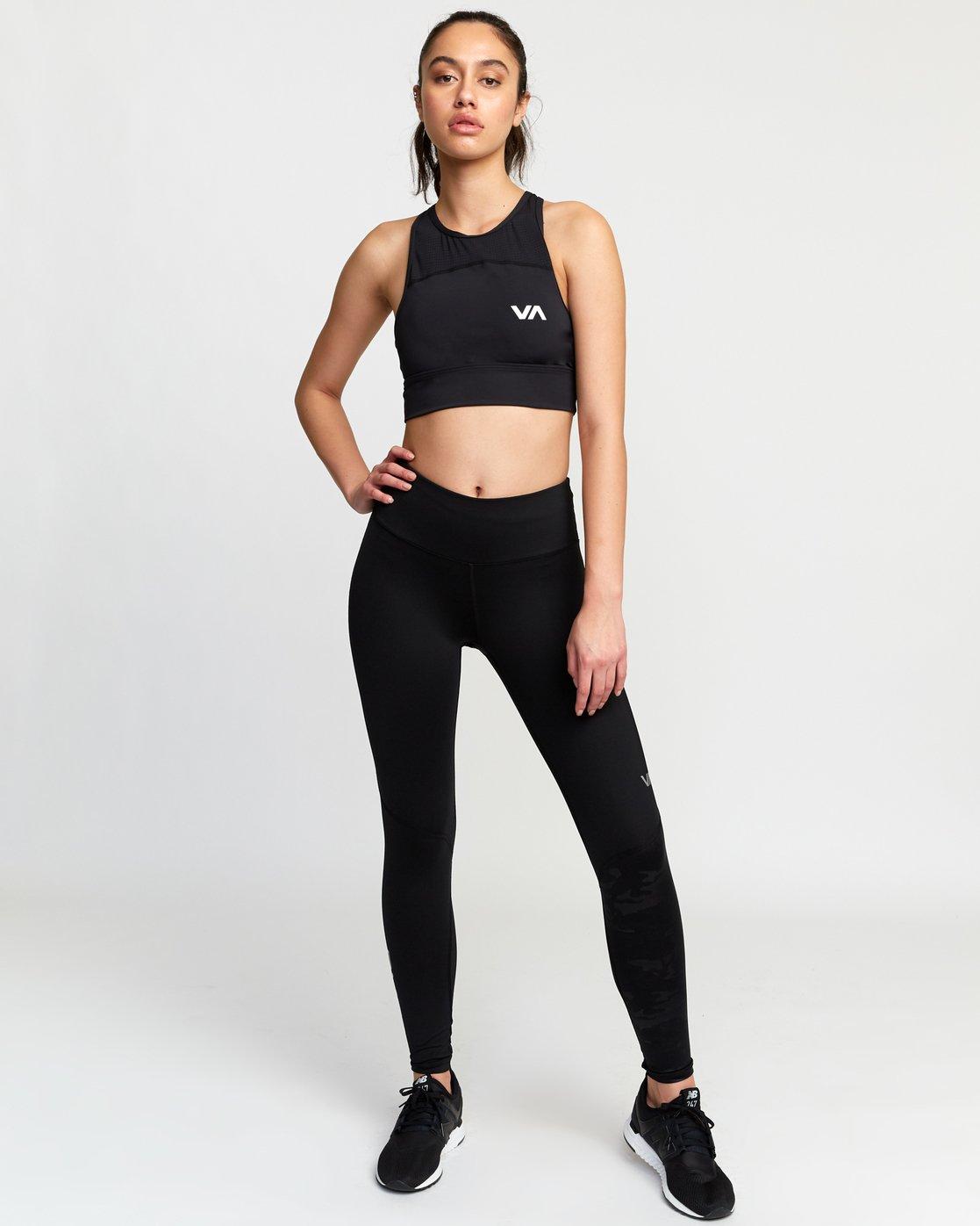 6 Rhea  - Brassière de Sport pour Femme Noir Q4UNWBRVF9 RVCA
