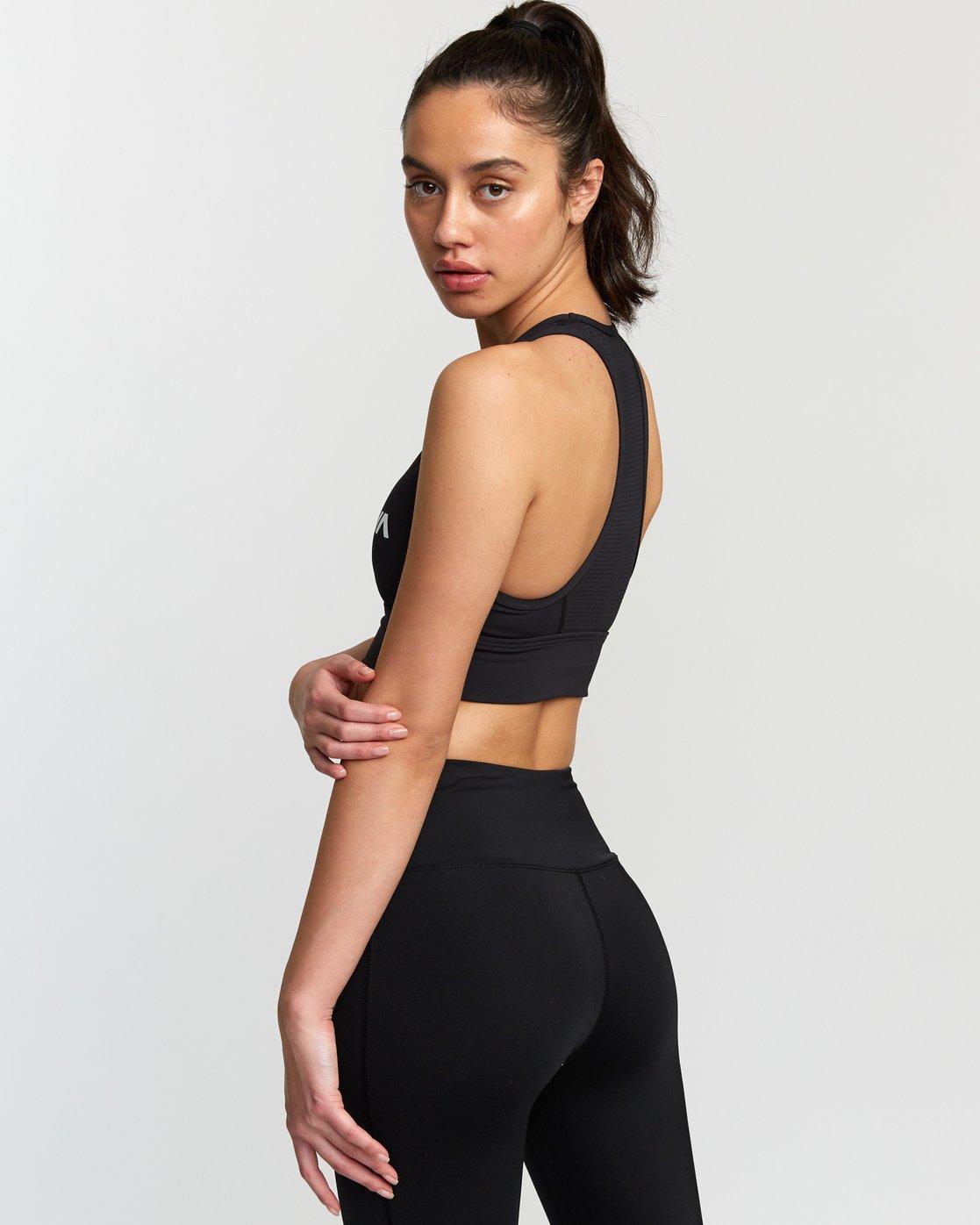 3 Rhea  - Brassière de Sport pour Femme Noir Q4UNWBRVF9 RVCA