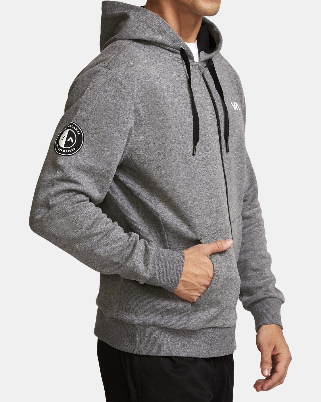 3 Sideline  - Athletic Hoodie for Men Grey Q4ZHMARVF9 RVCA
