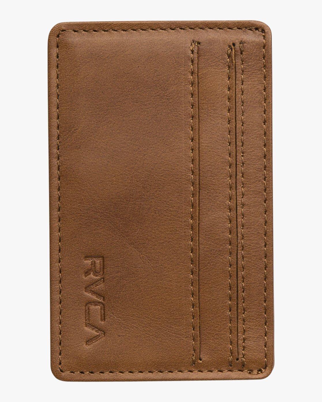3 Clean Card - Wallet for Men Beige Q5WLRCRVF9 RVCA