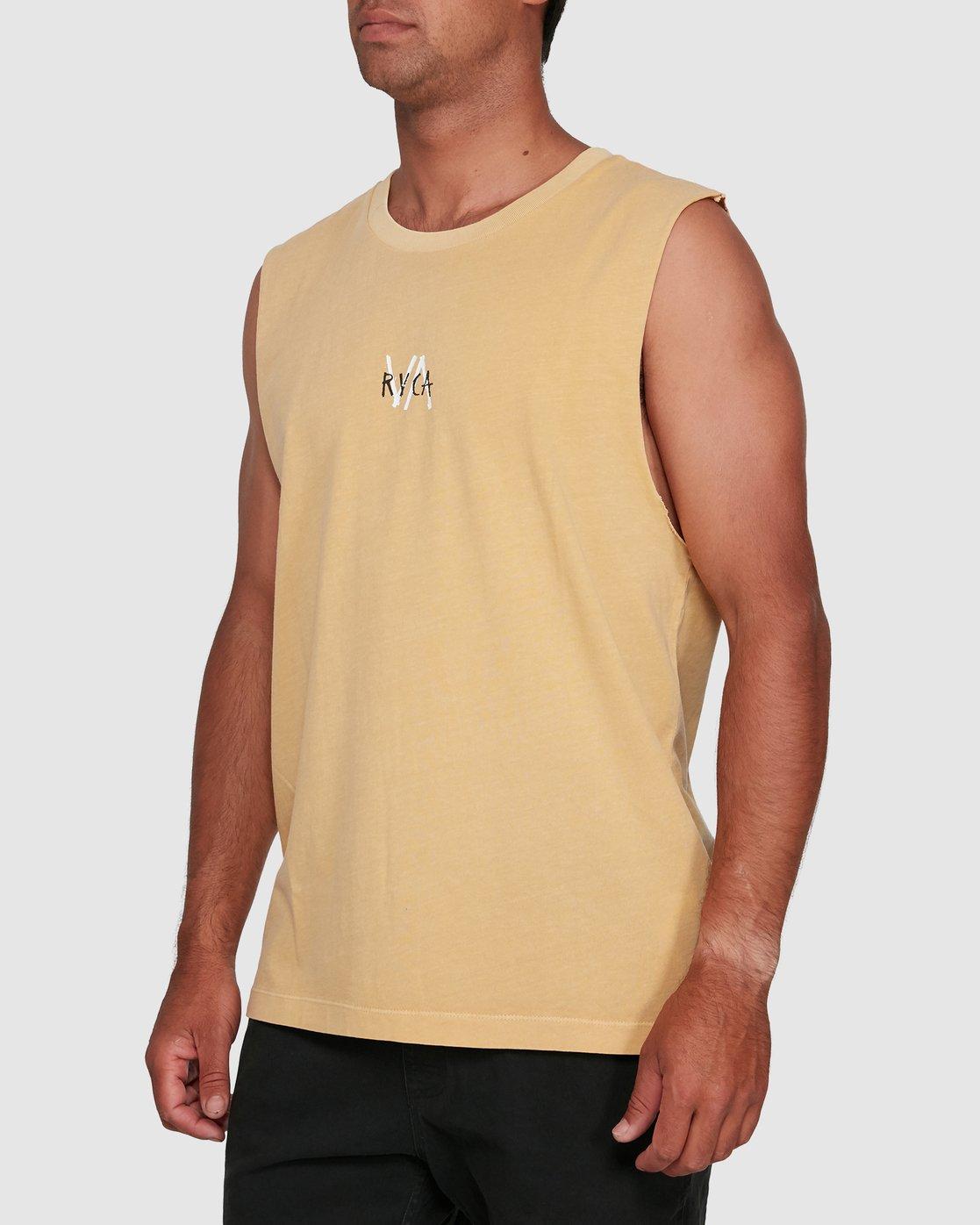 2 VA SANDS MUSCLE Yellow R105002 RVCA