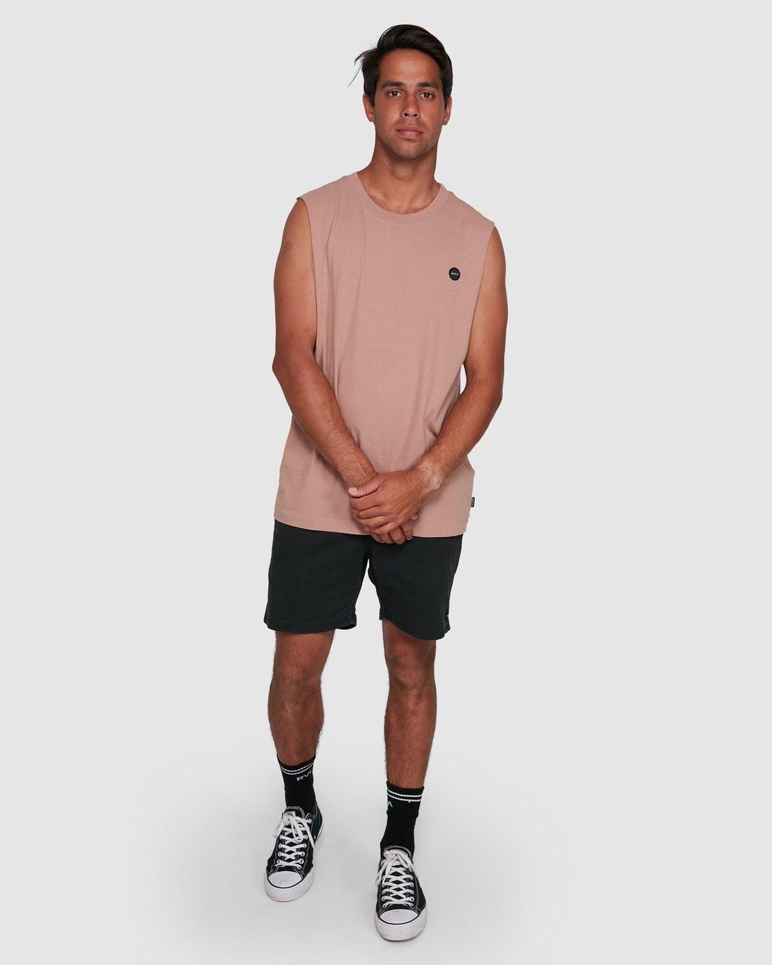 6 VAPOR MUSCLE Pink R105003 RVCA