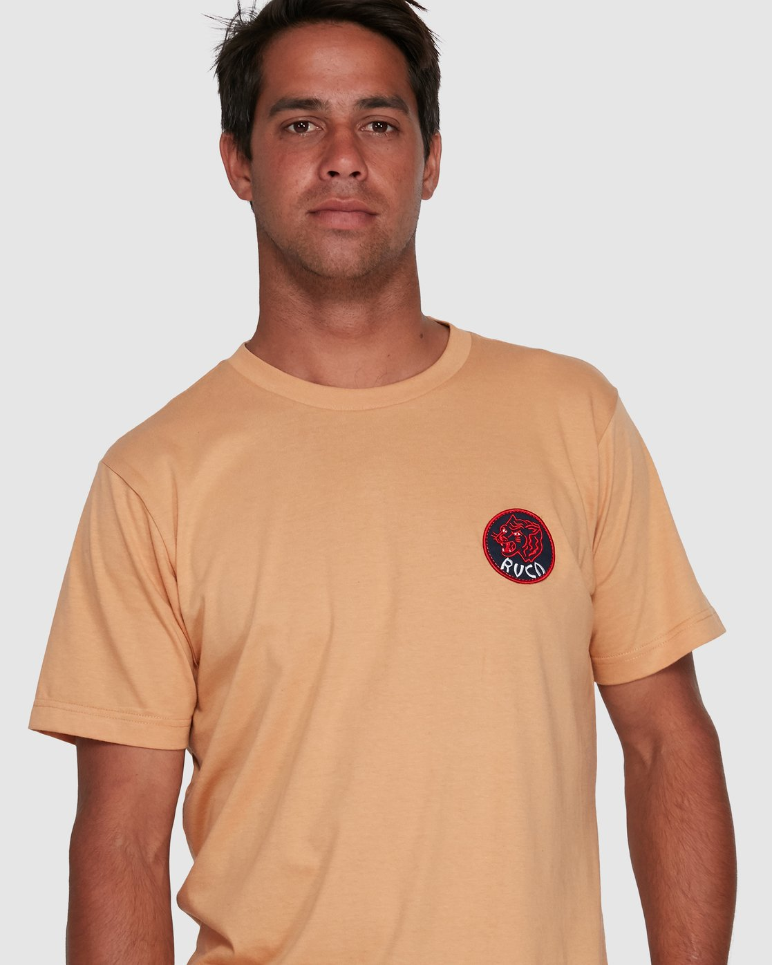 4 DYNASTY SHORT SLEEVE TEE Yellow R105041 RVCA