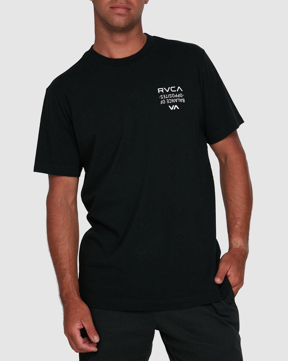 3 RVCA FAIRFAX SHORT SLEEVE TEE Black R105046 RVCA