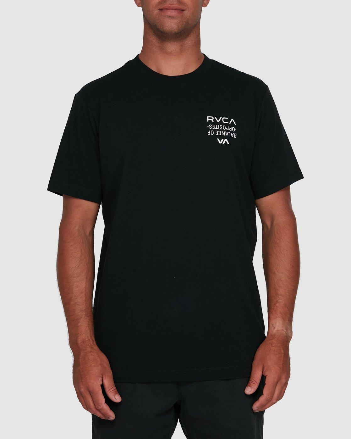 1 RVCA FAIRFAX SHORT SLEEVE TEE Black R105046 RVCA