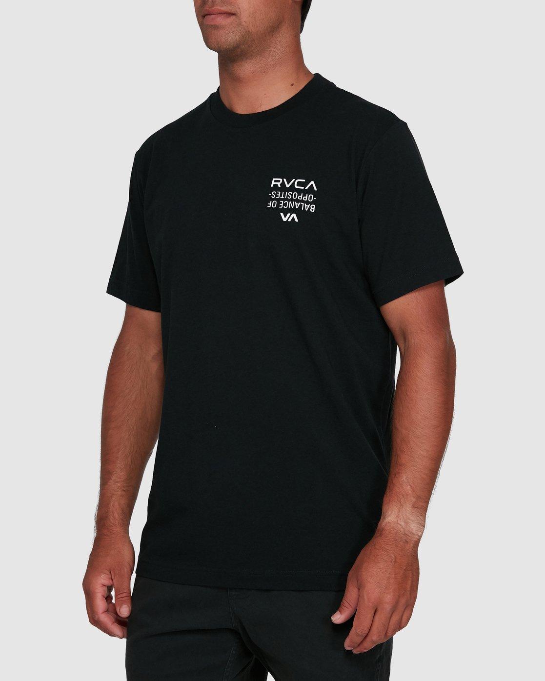 2 RVCA FAIRFAX SHORT SLEEVE TEE Black R105046 RVCA